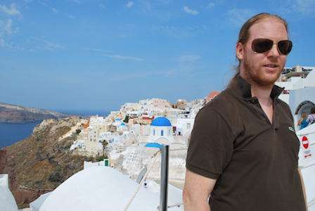 Jeroen Massar in Oia, Santorini, Greece