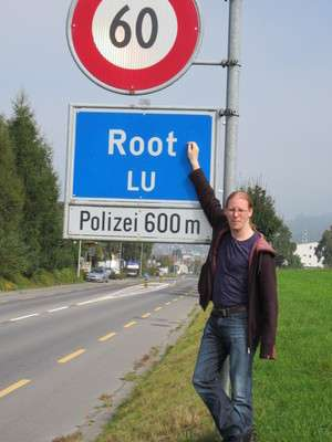 Jeroen Massar in Root, Luzern, Switzerland
