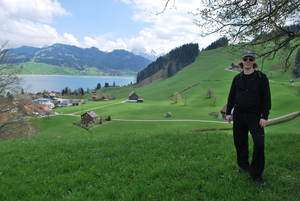 Jeroen Massar in Sihlsee, Switzerland